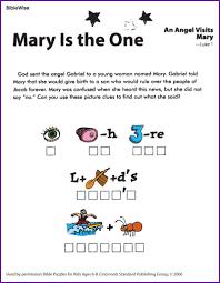 puzzle angel gabriel visits mary kids korner biblewise