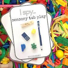 how to build a sensory table i spy sensory play build math sensory tubs and spy