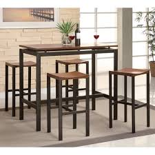 dining room high tables coaster 5 piece counter height table and chair set multiple colors