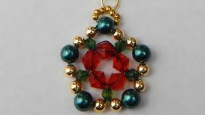 how to make a beaded pendant with bicones beading jewelry diy