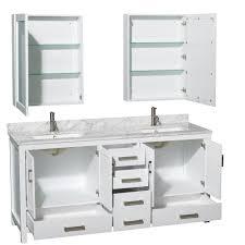 double sink bathroom vanity white double mirror panels modern