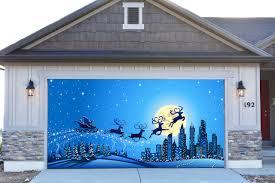 3d garage door covers christmas decorations outdoor wall banners