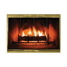 calloway masonry fireplace doors in multiple color options brick