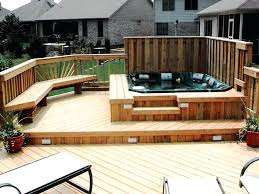 decks with tubbest deck design ideas for swimming pools