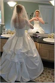 3 different examples of ways to bustle a wedding dress http www