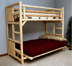 wood bunk bed ikea mydal bunk bed frame made of solid wood which