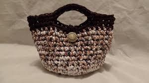 How To Make T Shirt Yarn Rug Crochet How To Crochet T Shirt Yarn Crochet Purse Handbag