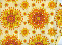 textures and surfaces wallpaper 60s 70s yellow orange floral