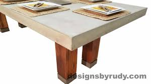 dr dt1 concrete top dining dr dt1 concrete top dining table with center cutout and teak legs