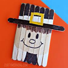 popsicle stick pilgrim craft for thanksgiving crafty morning