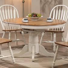 Antique White Round Dining Table Set Starrkingschool - Antique round kitchen table
