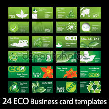 Business Invitation Card Format Set Of Colorful Natural Eco Concept Business Call Name
