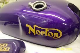 1971 norton commando u2013 fire flake roman purple precision