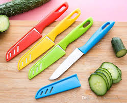high quality kitchen knives colourful knife fruit knives vegetable paring parer abs handle