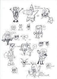 spongebob sketches u0027d by lgun92 on deviantart