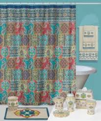 sasha moroccan paisley shower curtain and bath accessories by