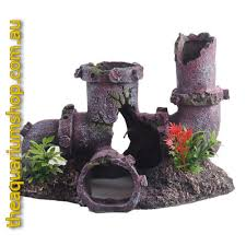 neptune large pipes with mini plants the aquarium shop australia