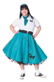 poodle skirt halloween costume hip hop 50s shop womens 8 pc teal poodle skirt halloween