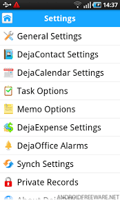 dejaoffice for android dejaoffice outlook usb sync free android app android freeware