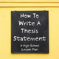 thesis statements for essays