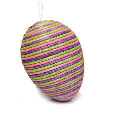 glitter easter egg ornaments 8 glitter easter egg ornament lavender pink green