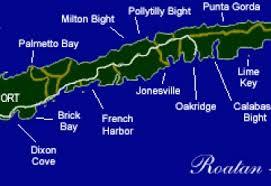 map of roatan honduras roatán honduras com
