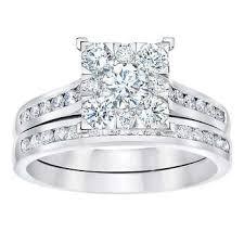 Costco Wedding Rings by Round Brilliant 1 10 Ctw Vs2 Clarity I Color Diamond 14kt White