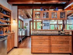 lake oswego one story craftsman home country kitchen