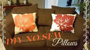 diy no sew fall home decor pillows under 6 dollar tree diy