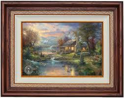 alabama and auburn framed prints nature s paradise by kinkade