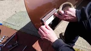how to replace a car door handle ex camaro 1970 1981 youtube