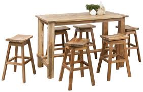 Outdoor Bar Table And Stools Bar Stool Recycle Teak Timber