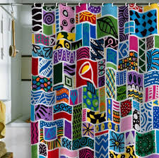 Bright Shower Curtains Wonderful Bright Colorful Shower Curtains Photos Bathroom With