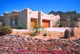 released southwest pueblo style home scottsdale arizona stock
