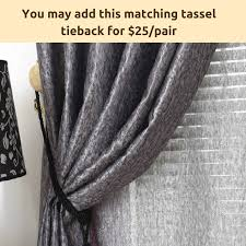 Blackout Drapery Fabric Blockout Blackout Grey Gray Sheer Drapes Curtain Fabric Eyelet