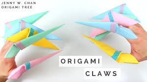 Halloween Crafts Paper Halloween Crafts How To Make Origami Claws Fold Paper Claws