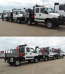 ready for dispatch three custom made iveco daily 55s15dwh 4x4
