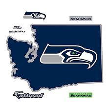 seattle seahawks state washington logo wall decal by fathead