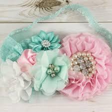 mint green headband best aqua flower for headband products on wanelo