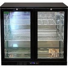 commercial double door bar fridge with energy saving parts
