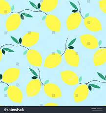 summer seamless lemon pattern design element stock vector