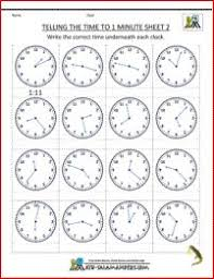 2nd grade math practice telling the time quarter past 1 grade 1