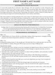 sales resume samples