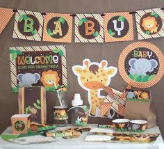 themed baby shower safari jungle baby shower decorations printable instant