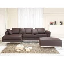 canapé d angle cuir marron canapé d angle d canapé avec pouf en cuir marron sofa oslo