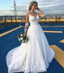 aliexpress com buy 2016 new arabic wedding dresses illusion neck