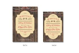 christmas invitation template v147 flyer templates creative market