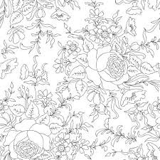 30 advanced flower coloring pages images