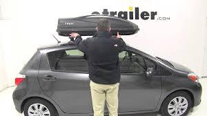 toyota yaris roof rack review of the thule large rooftop cargo box on a 2014 toyota