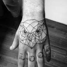 tattoo geometric outline 80 geometric owl tattoo designs for men shape ink ideas tatuajes